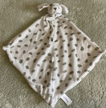 Angel Dear White Gray Dalmatian Puppy Dog Fleece Lovey Security Blanket Toy - $12.13