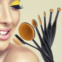 Fashion Women Foundation Brush 7pcs Black Oval Toothbrush Shape Makeup B... - $14.19