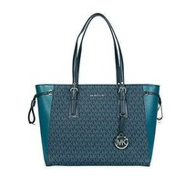Michael Kors Voyager Medium Multifunction Top-Zip Tote (Luxe Teal/Admiral) - $288.00