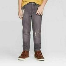 art class Boys' Slim Fit Distressed Denim Jeans, Bladen Solid Black, Siz... - $14.84