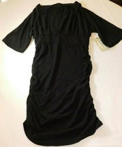 Derek Heart Mujer Mujer Vestido Talla L Manga Corta Negro 7W089 Nwt - $24.00