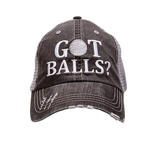 Golf Addiction GOT Balls? Funny Trucker Distressed Embroidered Hat Cap Mens Golf