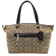 Coach Signature Prairie Satchel Li/Khaki/Brown Women's Handbag 58875 LIC7C - $249.00