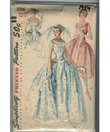 VTG 1954- Simplicity 1156- Ms 32bust Sz 14- UNCUT- Bridal-Br - $36.00