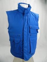 EDDIE BAUER premium Quality Goose Down Blue Hunting Fishing Lined Vest M... - $44.50