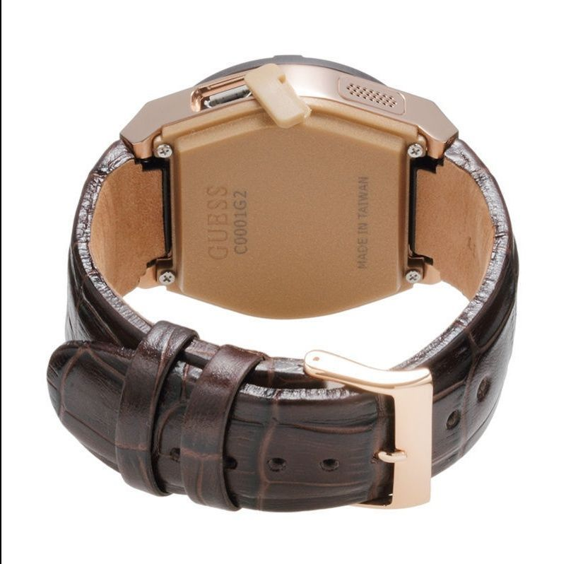 GUESS Men's C0001G2 CONNECT Chic Fashionable Brown Smartwatch Where Fashion