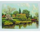 69320a friendly cottage ducks calendar art print lithograph 1940s thumb155 crop