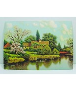 Friendly Cottage Vintage 1940s Art Print Litho ... - $9.95
