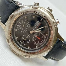 Vintage 1995 GUESS Water Pro 41mm Stainless Men's 1/10 Chronograph Watch... - $49.45