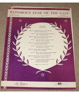 Wondrous Star of the East Sheet Music - 1918/1948 - $7.25