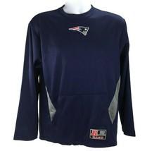 New England Patriots Mens S Crewneck Sweatshirt Blue Mesh LS NFL Team Ap... - $16.82