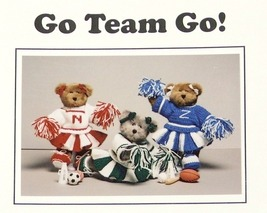 Knit/Crochet Pattern CHEERLEADER BEARS! Go-Team-Go! JAO Patt - $3.99