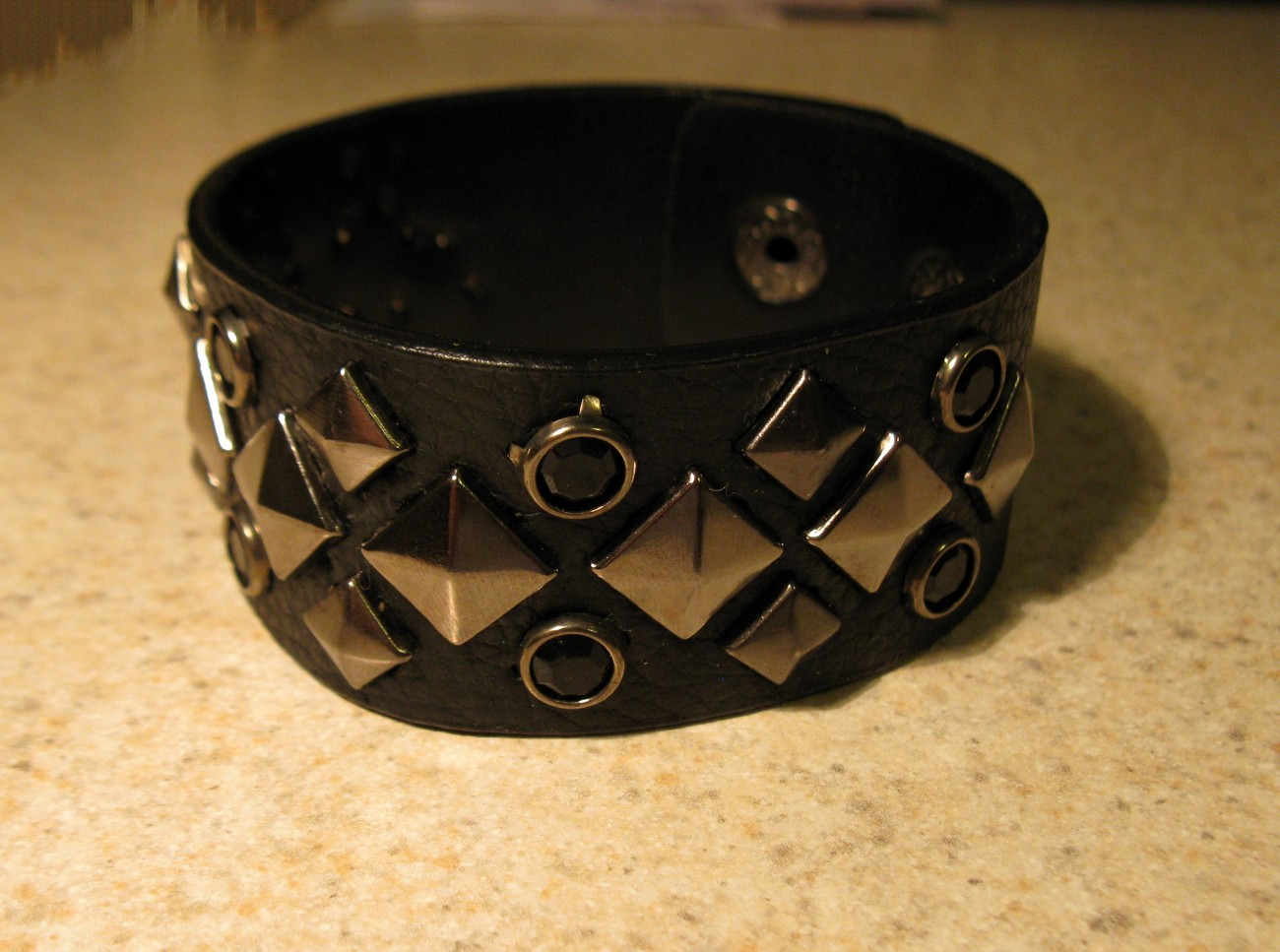 39 black diamond stud bracelet