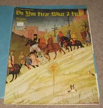Do You Hear What I hear Sheet Music - 1962 - Easy Piano - $8.99