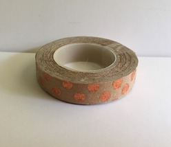 Colorful Washi Tape 2, Tan With Orange Circles, Supply, Crafting, Adhesi... - $2.50