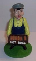 Hartland Baseball Stadium Hot Dog Vendor Ceramic Figurine - $21.78