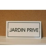 "JARDIN PRIVE PRIVATE GARDEN Handcrafted Enameled Metal Plate FRANCE 4"" X 8"" - $21.73"
