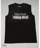 Here Comes Trouble Sz Large (12-13) Brown Sleeveless Tee  NWT - $9.99