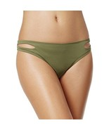 Bar III Women's Cut-Out Hipster Swim Bottom Separates Green Size Large - $21.34