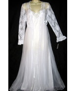 Venise Lace White Bridal Robe & Gown Set M - $45.00