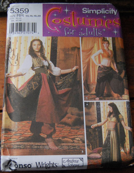 Pattern 5359 Dancing Girl Style Costume sz 6-12