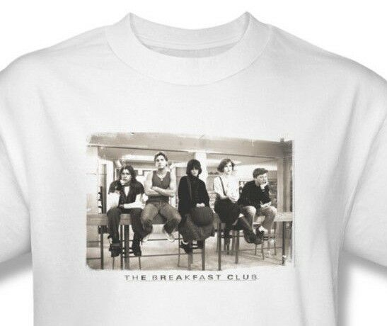 The Breakfast Club T-shirt Free Shipping 80's movie cotton white tee UNI559