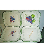 VIETRI Disappearing Grapes Wall Plates With hangers Italy with hangers S... - $79.99
