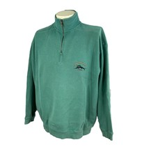 Tommy Bahama Men's Relax Pullover 1/4 Zip 100% Cotton Green Sweatshirt L... - $23.27