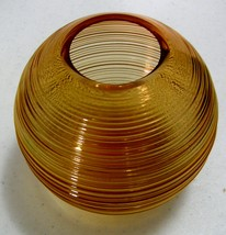 Imperial Reeded Line #701 Ball Vase – 6 Inch - AMBER - $30.00