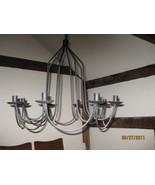 8 candle iron chandelier - $150.00
