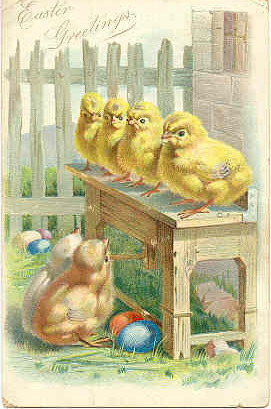 Easter GreetingsTuck and Sons  Vintage 1907 Post Card