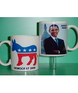 Barack Obama Democrat 2 Photo Collectible Mug 01 - $14.95