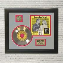 """JERRY LEE LEWIS - GREAT BALLS OF FIRE GOLD 45 RECORD DISPLAY FRAMED""""M4"""" - $151.95"""