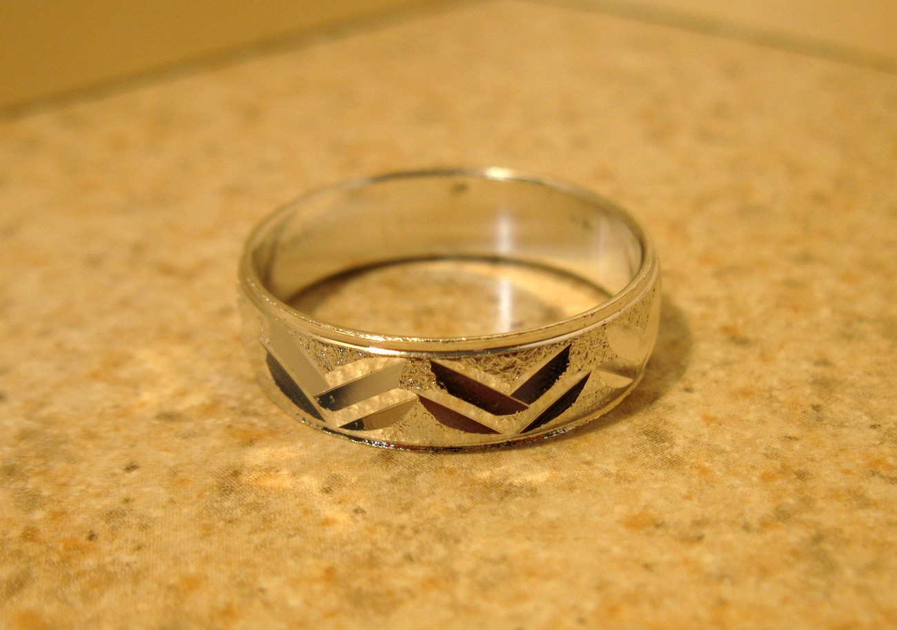 RING MEN WOMEN UNISEX SILVER PLATED BAND SIZE 10 #979