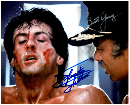 Primary image for ROCKY - STALLONE & YOUNG Signed Autographed Cast Photo w/COA 118