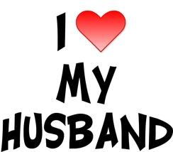 """I Love My Husband"" Chef Apron - A Great Wedding Gift! - $9.85"