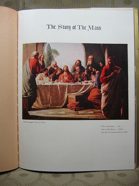 The Story of The Mass by James C. G. Conniff 1954 HCDJ