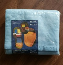 """Vintage Cannon Blanket Blue Dover 72"""" x 90"""" Twin/Double Polyester w/ Bin... - $18.49"""