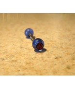 TONGUE BARBELLS BODY PIERCING 5/8 IN PURPLE/RED CATEYE #549B - $3.99