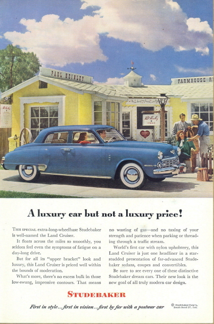 1948 STUDEBAKER Land Cruiser Sedan Ex long-wheelbase print ad