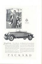 1927 PACKARD Auto Car lady & dog vintage print ad - $10.00