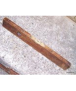 ANTIQUE WOOD LEVEL/CS CO. /PINE MEADOW CONN. US... - $65.00