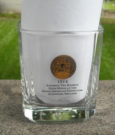 JACK DANIEL'S GOLD MEDAL WHISKEY ROCKS GLASS SQUARE