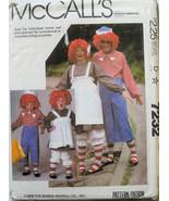 7232 McCalls Raggedy Ann Andy Costume Child's 10-12 NEW - $3.99