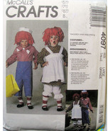 4097 McCalls Raggedy Ann Andy Costume Adult Large NEW - $3.99