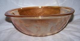 Jeannette Glass Iridescent Floragold Louisa  Serving Bowl-Mid-Century Modern - $13.55