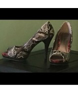 Size 7 Rampage Faux Snakeskin Heels  - $60.00