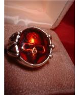 Skull Harley Biker Blood Red Ring - $16.00