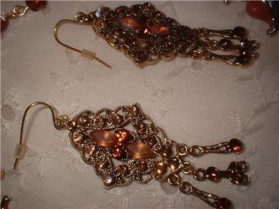 Vintage Jewelry Necklace Glamorous Rhinestone Earrings
