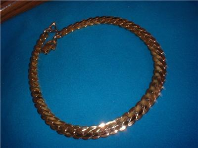 Vintage Jewery Barclay Gold Tone Chain Necklace